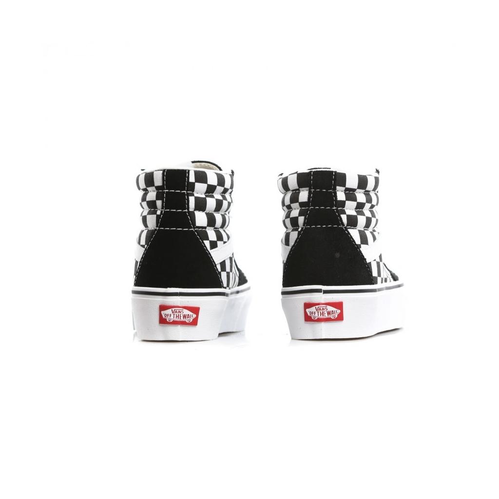 High Sk8 Hi Platform 2 Checkerboard True White Shoe Bowdoo Com