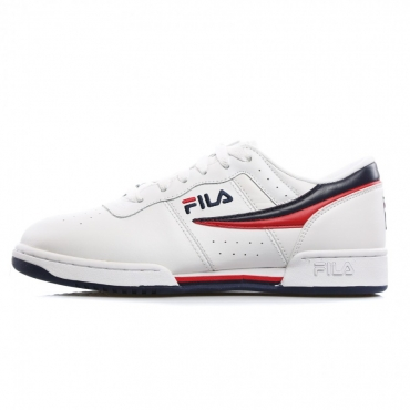 SCARPA BASSA ORIGINAL FITNESS WHITE/FILA NAVY/FILA RED
