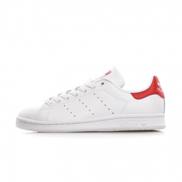 SCARPA BASSA STAN SMITH RUN WHITE/RUN WHITE/COLLEGIATE RED