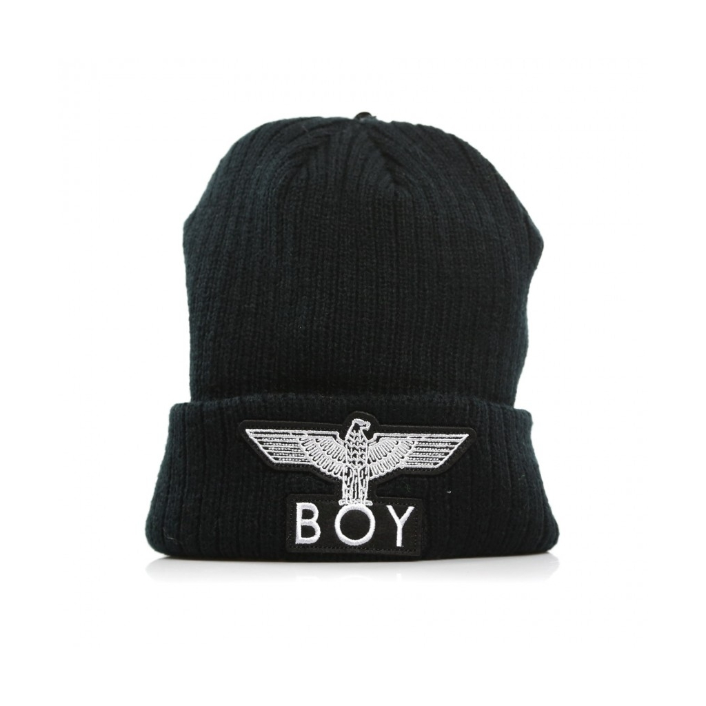 BOY LONDON - BERRETTO LANA EAGLE BEANIE BLACK WHITE - Cappelli e Be ... cb43862cddeb