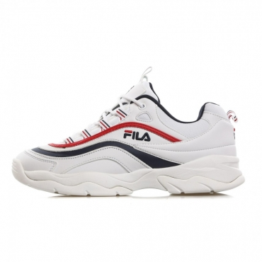 SCARPA BASSA RAY LOW WHITE/FILA NAVY/FILA RED