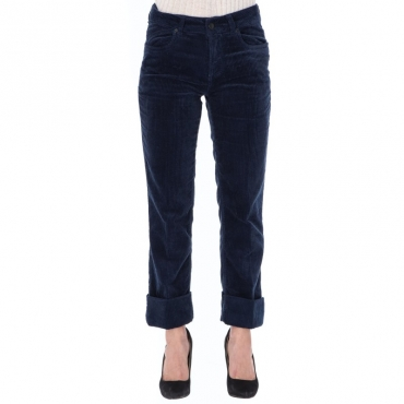 Pantalone in velluto costa larga BLU