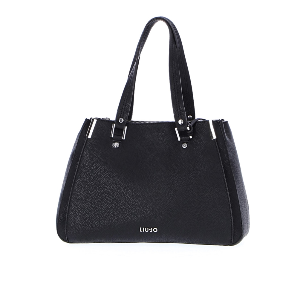 fffcb3b58f BAG LIUJO BLACK DOUBLE ZIP ONE