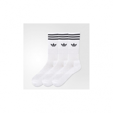 CALZE SOLID CREW SOCK WHITE/BLACK