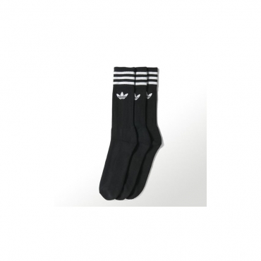 CALZE SOLID CREW SOCK BLACK/WHITE
