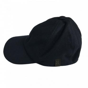 FERRANTE cappello uomo lana con visiera mod U17100 BASEBALL MADE IN ITALY Blu