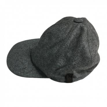 FERRANTE cappello uomo lana con visiera mod U17100 BASEBALL MADE IN ITALY Grigio