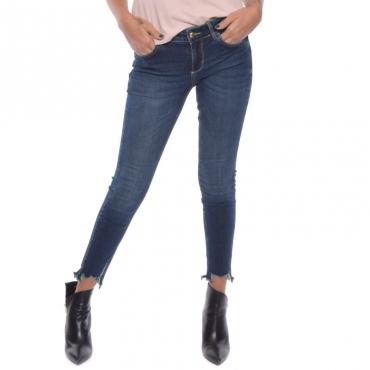 Jeans ideal sfrangiato DENIM BLUE