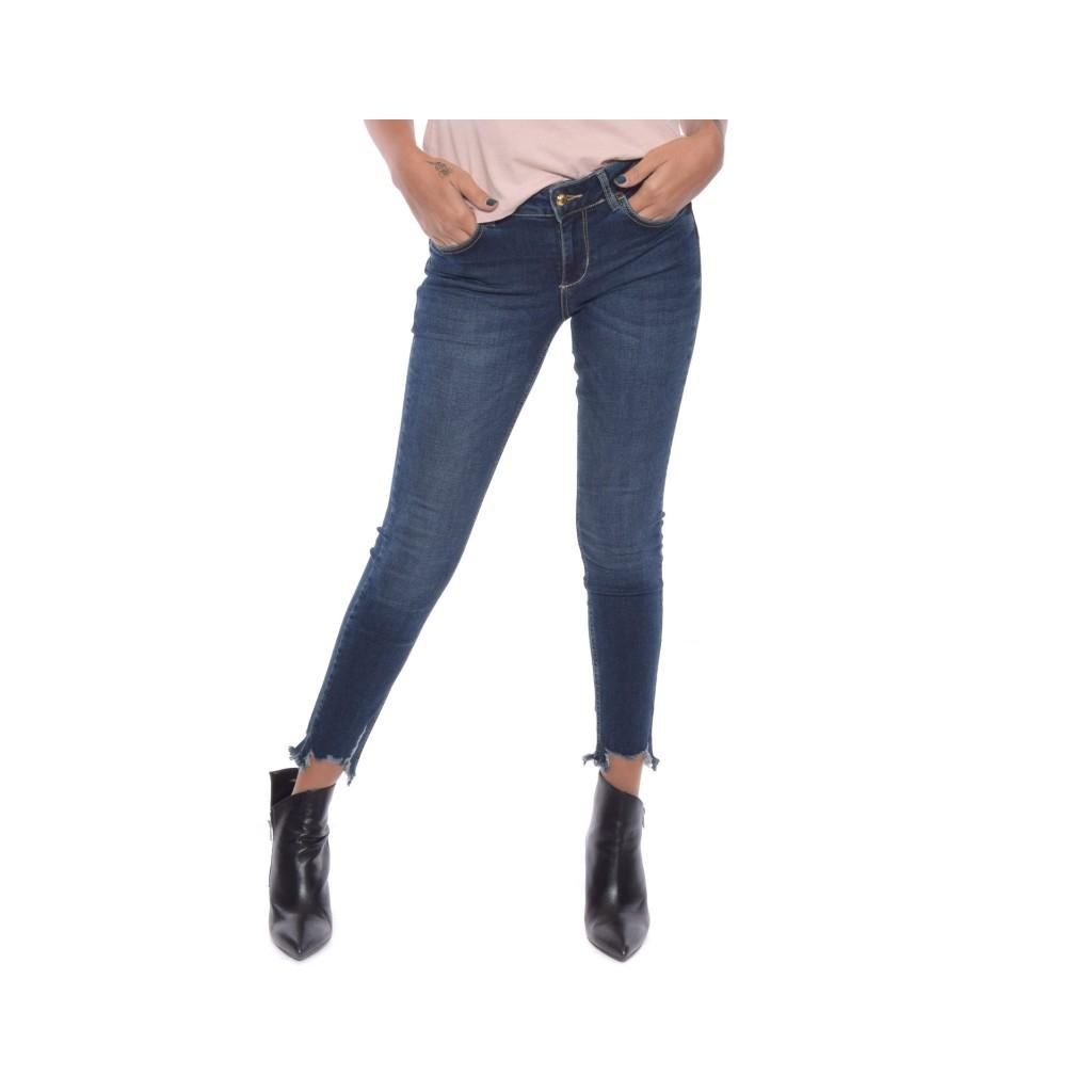 Jeans ideal sfrangiato DENIM BLUE ... d28fee8126e