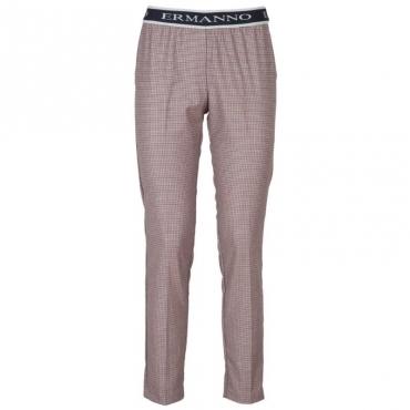 Pantalone pied de poule colorato con elastico 76264
