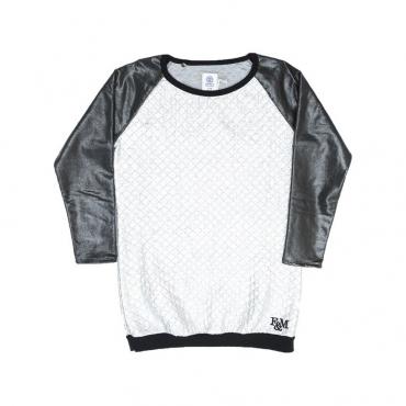 VESTITO FRANKLIN  MARSHALL WOMAN SWEAT/DRESS Silver/Black unico