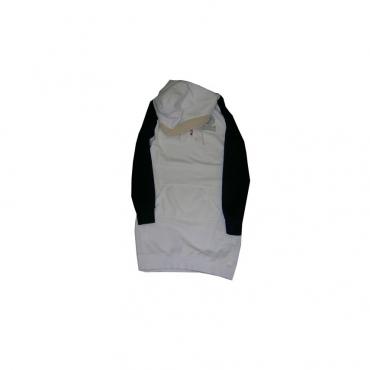 VESTITO FRANKLIN  MARSHALL WOMAN SWEATSHIRT HOODIE DRESS WinterWhite/Navy unico