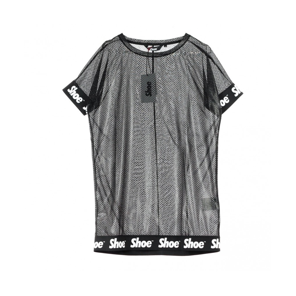 d22a8d6e5f SHOESHINE - VESTITO DRESS MESH BLACK LAM - Vestiti  Bowdoo.com
