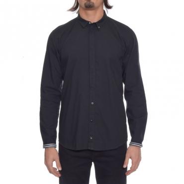 Camicia cotone NERO