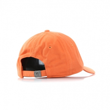 CAPPELLO VISIERA CURVA MADISON LOGO CAP JAFFA ORANGE/BLACK