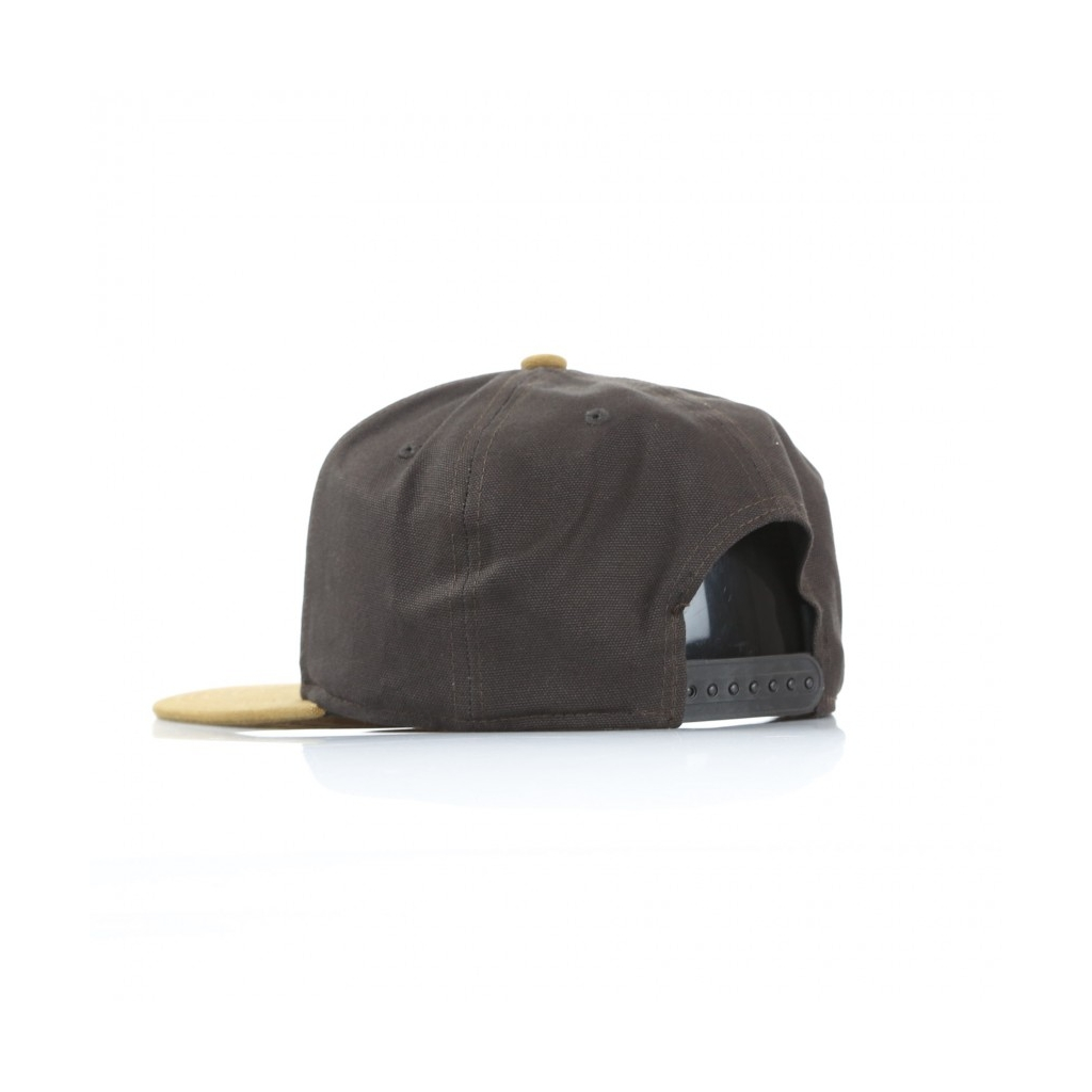CAPPELLO SNAPBACK LOGO CAP BI-COLORED TOBACCO HAMILTON BROWN ... 4a253d628273