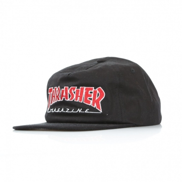 CAPPELLO SNAPBACK OUTLINED BLACK
