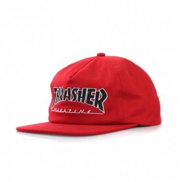 CAPPELLO SNAPBACK OUTLINED RED
