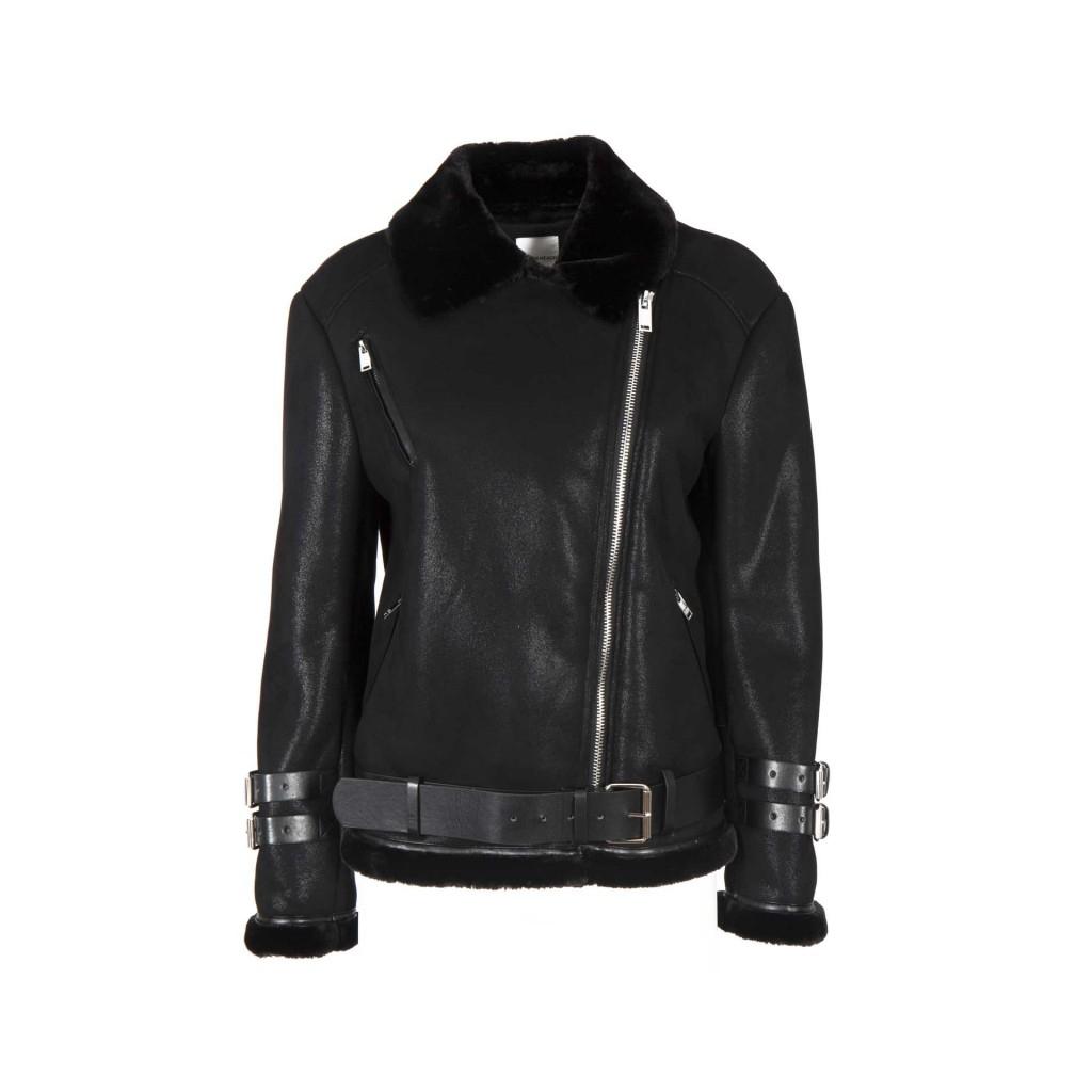 Stile Alfarrasi Similpelle Biker Heach Giacca Silvian In Black wTqfvTg