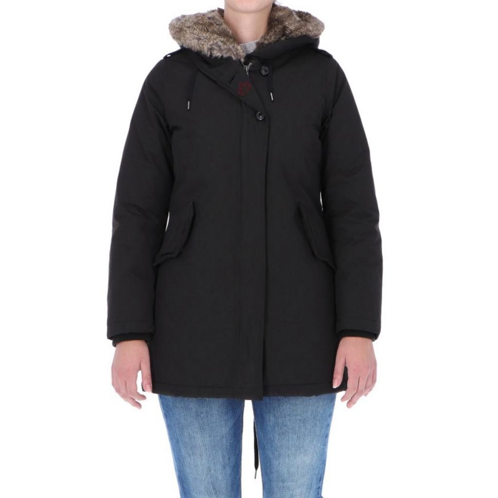 5186fa81ea Canadian Classic Woman Lanigan New Fake Fur BLACK Jacket   Bowdoo.com