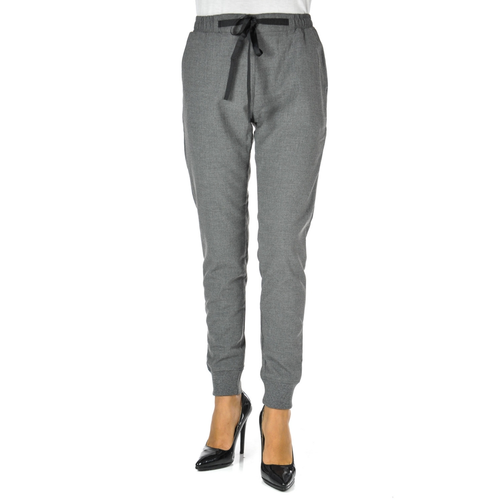 Soft trousers at paloma gray melange cuffs