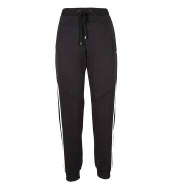 Pantaloni da jogging con banda laterale 00006NERO