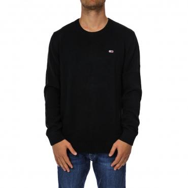 Maglioncino Napapijri Uomo Giro Collo Wool 041 BLACK
