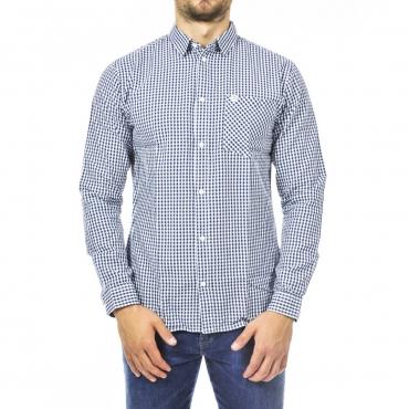 d2ab1e7dd65 Camicia Tommy Hilfiger Jeans Uomo Check 002 BLACK IRIS