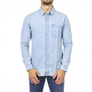 Camicia Tommy Hilfiger Jeans Uomo Denim Classic 911 SAUNBY LIGHT