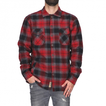 Baumwolle red black check