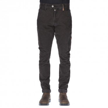 Pantalone uomo chino regular dark brown