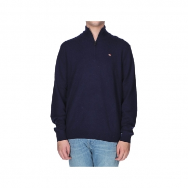 Maglioncino Napapijri Uomo Half Zip Wool 176 BLU MARINE