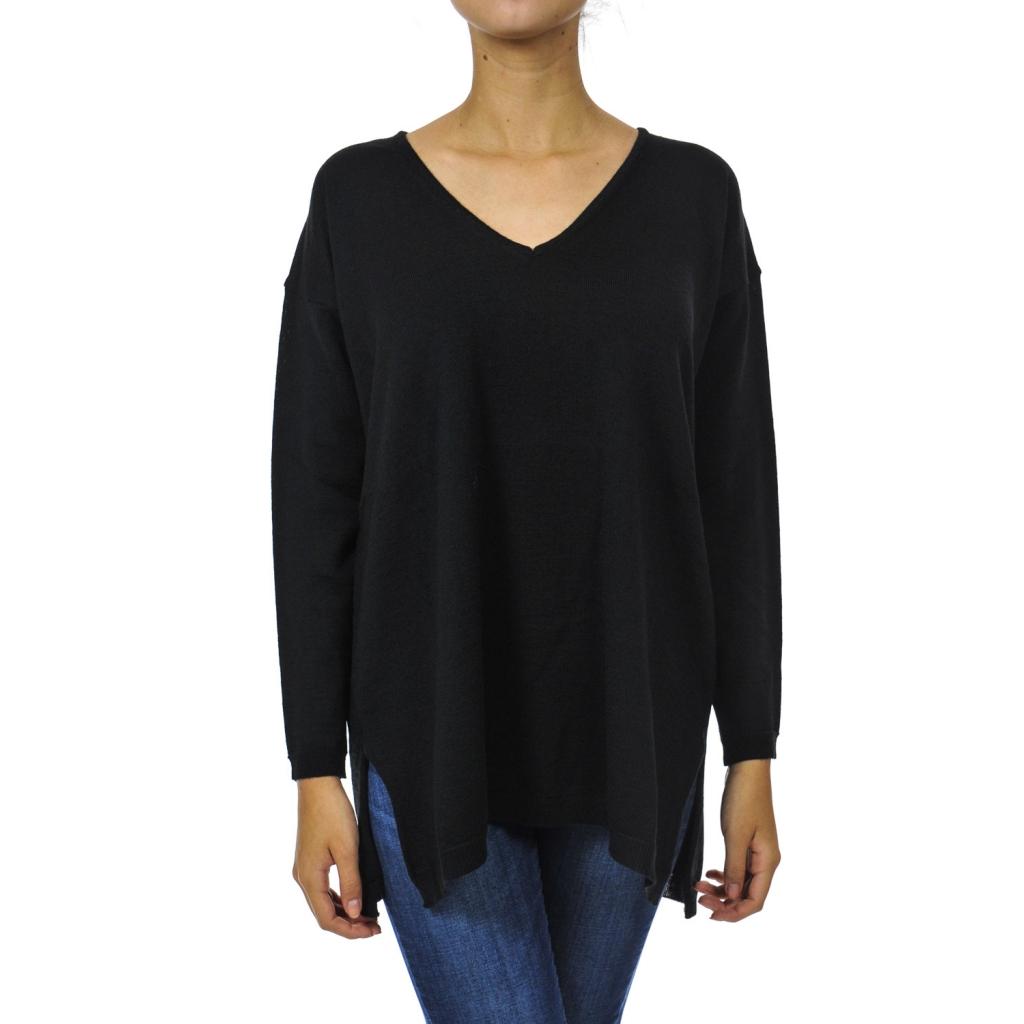 Übergroßer Pullover mit BLACK Splits