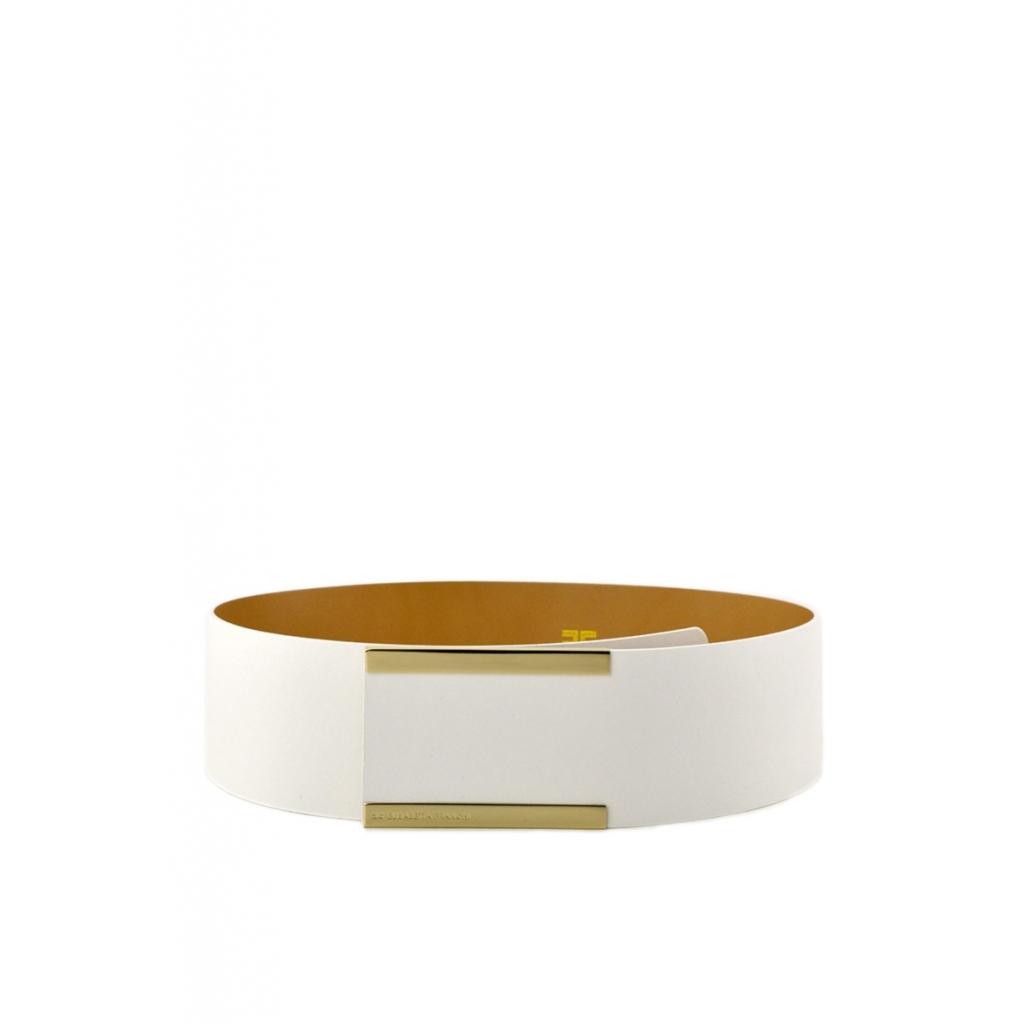 1418381fa2 Elisabetta Franchi women's belt in white imitation leather IVORY |  Bowdoo.com