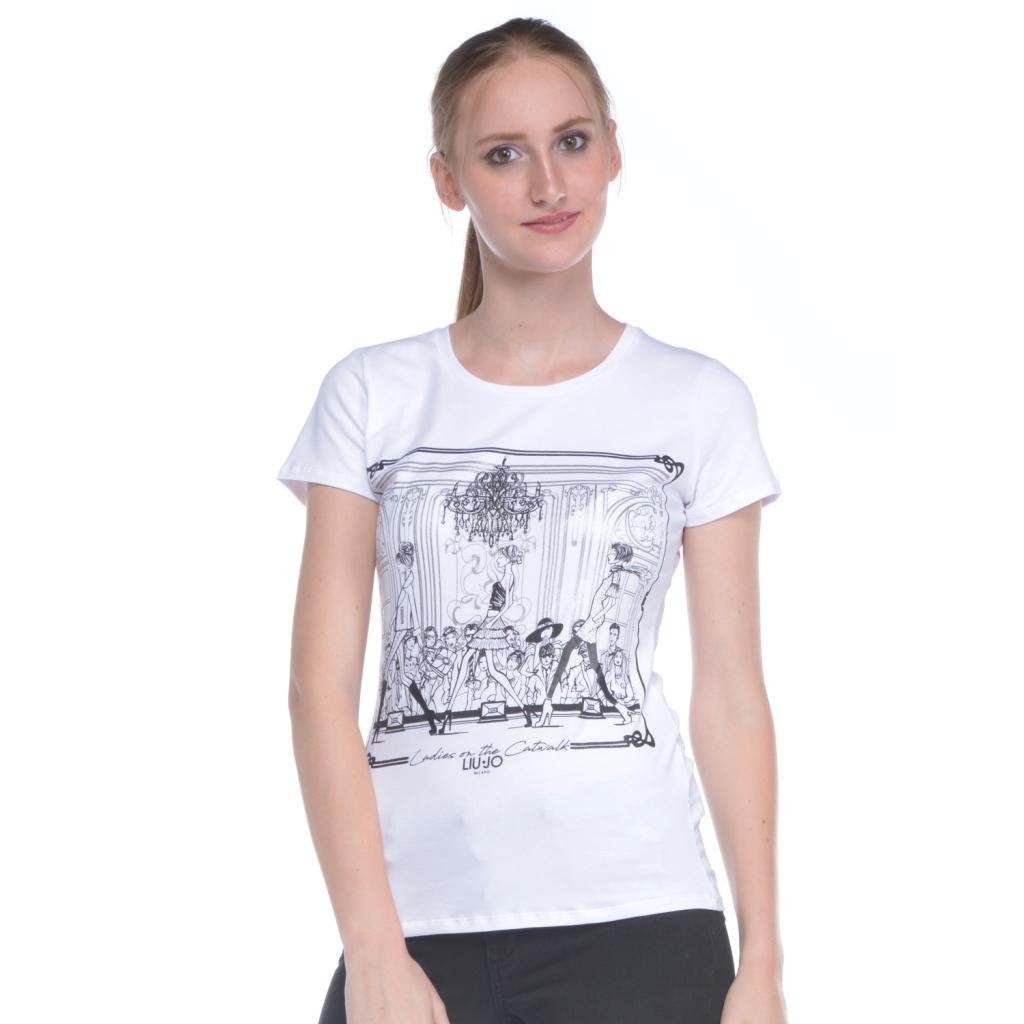 de0af8fa9c82a Liu jo - T-shirt donna Liu Jo con stampa bianco - T-shirt e Top