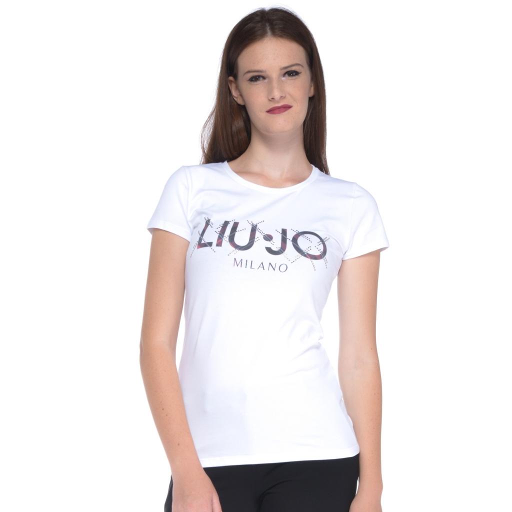 cheaper 8a977 152e5 Liu jo - T-shirt donna Liu Jo con stampa lettering bianco BC-NERO -...
