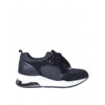 Sneaker donna Liu Jo modello Karlie con glitter nero NERO-ARG