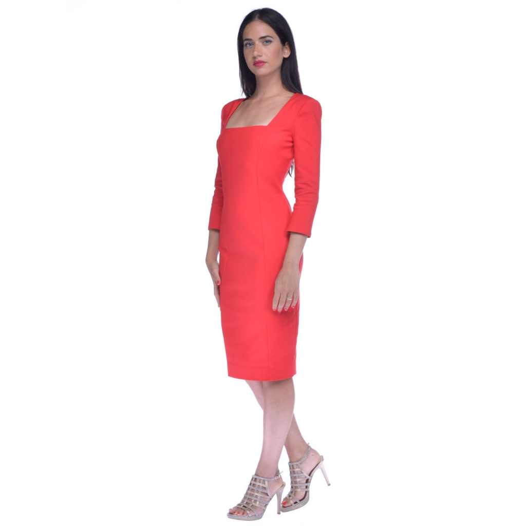 new arrival a610d 54e4b Patrizia Pepe women's sheath dress with red openings