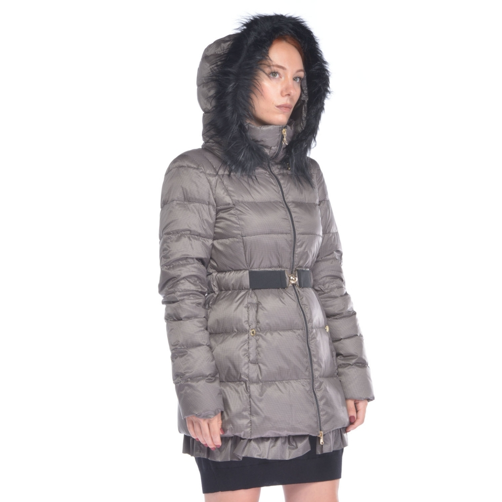 uk availability a1fb8 ca834 Patrizia Pepe woman down jacket with beige micro-pattern NR-BEIGE |  Bowdoo.com