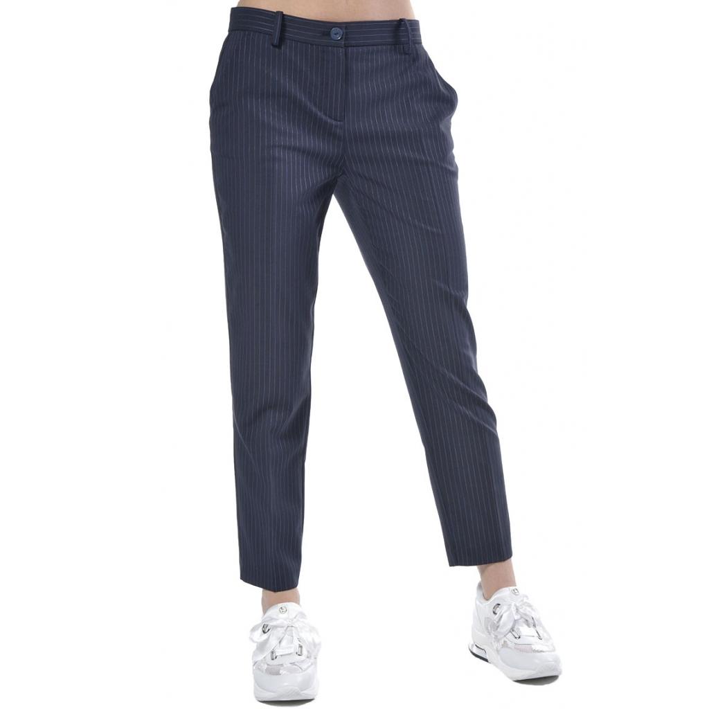 Blu Donna Pinko Chino Pantalon Pantalone Gessata Fantasia vSxX8Pwq