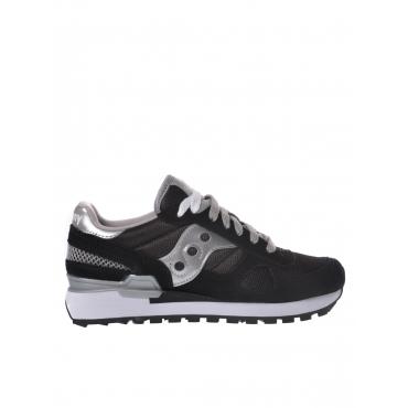 Sneaker donna Saucony Shadow Original in suede e tessuto nero NERO-ARG