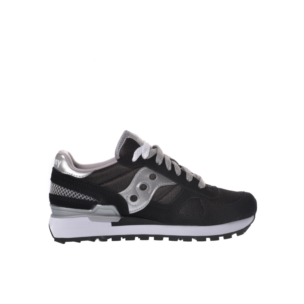separation shoes 6c22e 995f8 Sneaker woman Saucony Shadow Original in suede and black fabric NERO-ARG |  Bowdoo.com