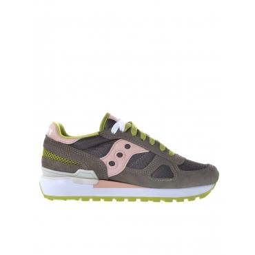 Sneaker donna Saucony Shadow Original grigio medio ROSA-LIME