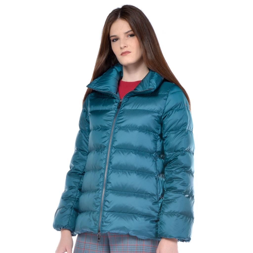 wholesale dealer dd231 31e8c Seventy - Piumino donna Seventy linea svasata verde ottanio - Abbig...