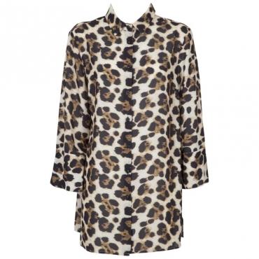 Camicia leopardata a maniche lunghe UNICA