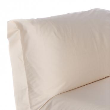 Set Lenzuola letto singolo in raso di cotone egiziano 300 fili Panna