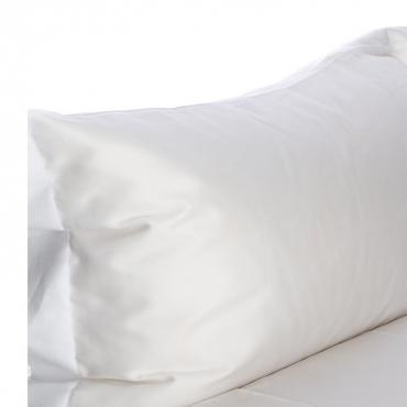 Set Lenzuola letto singolo raso di cotone egiziano 300 fili Bianco ottico
