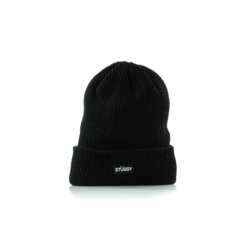 STUSSY - BERRETTO LANA SMALL PATCH WATCHCAP BEANIE BLACK - Cappelli ... 499c274690d0