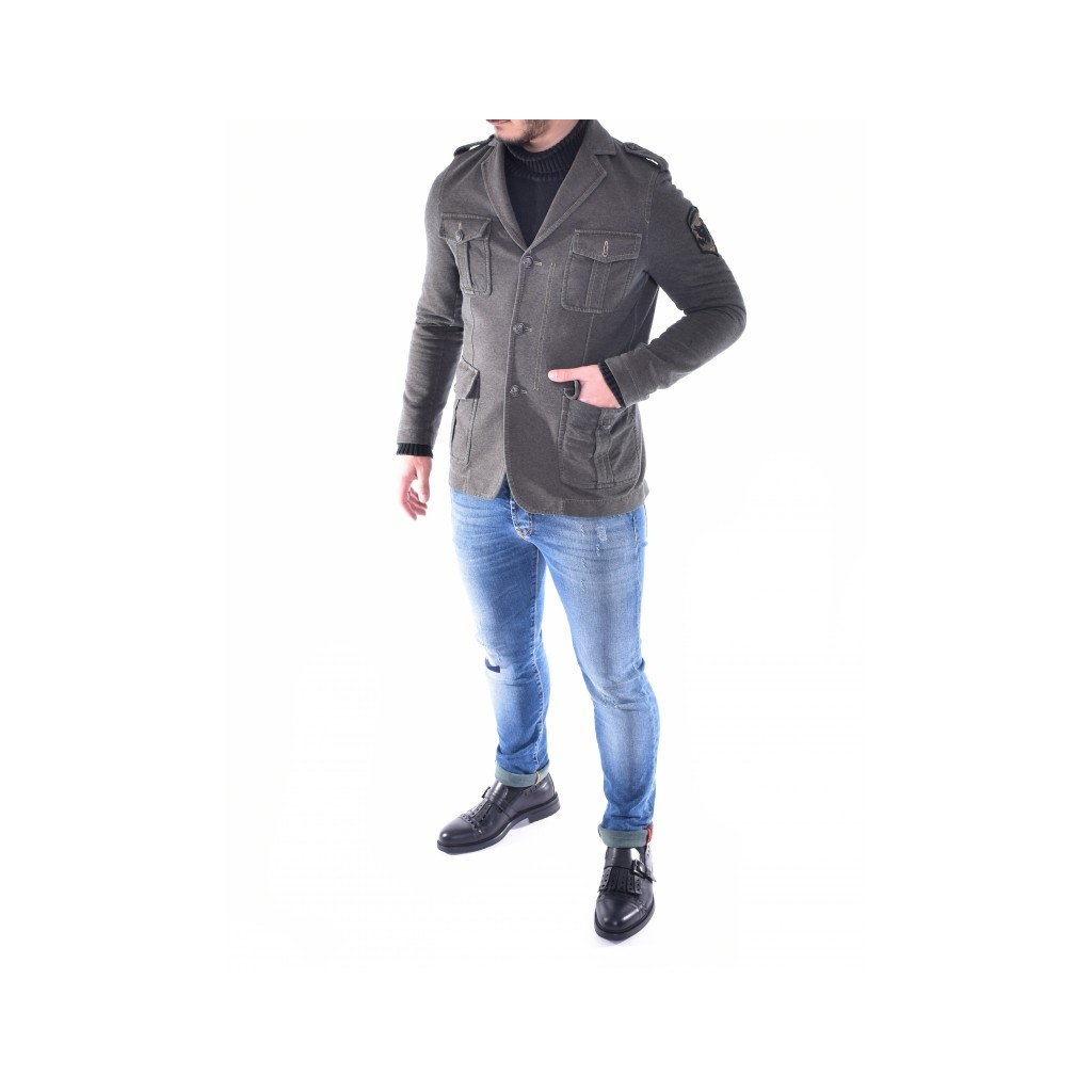 Elast Slim Fit Jacke Militärchich MILITARY GREEN