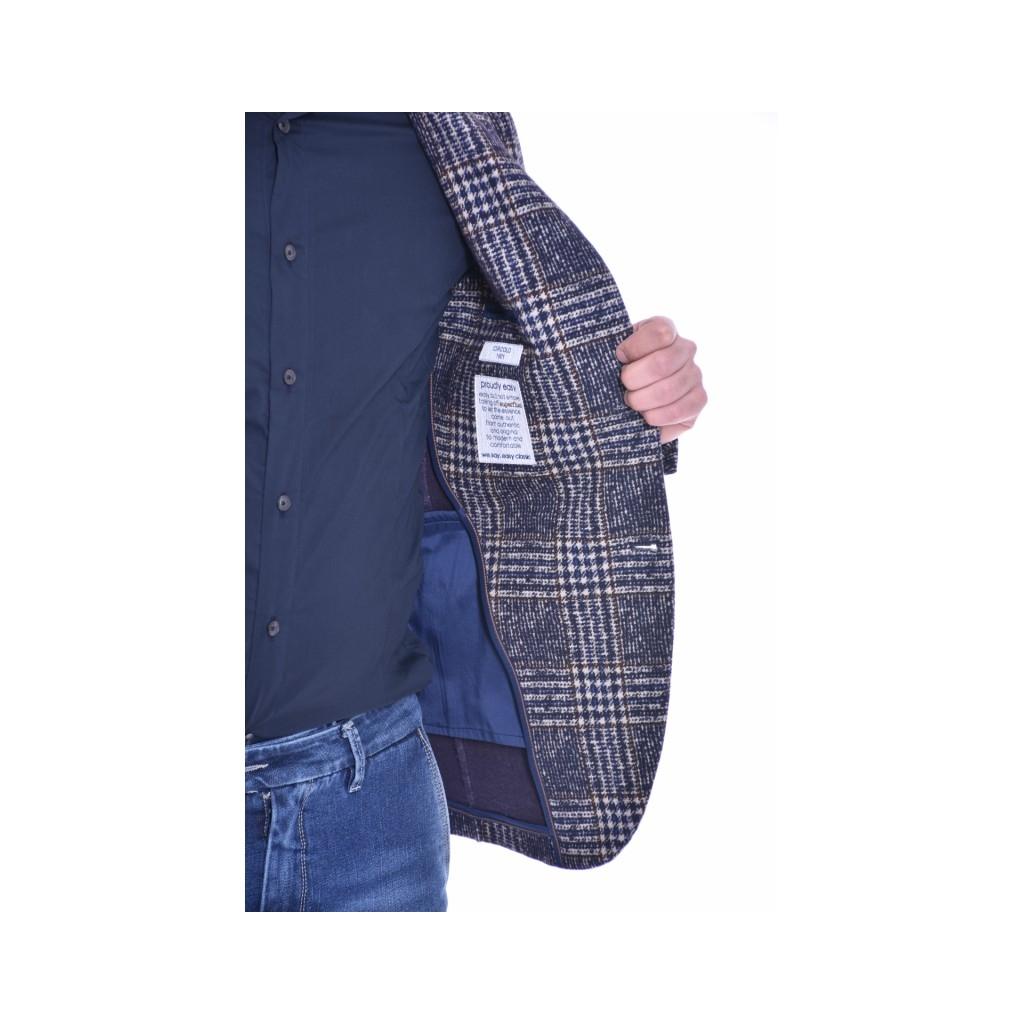 Schmal geschnittene, elastische Jacke im Karomuster CHAMPION